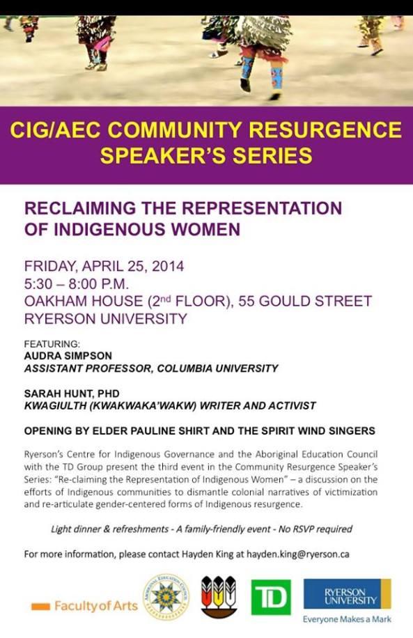 CIG/AEC Community Resurgence Speaker's Series: Reclaiming The Representation Of Indigenous Women